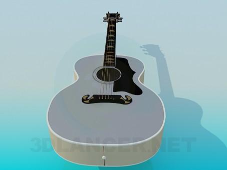 modelo 3D Guitarra acústica - escuchar