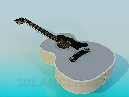 3d model Acoustic Guitar - preview