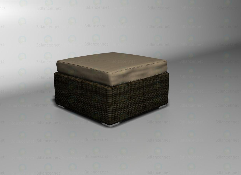 3d модель Sahara стіл-підставка для ніг – превью
