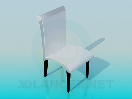 3d model Chair white - preview