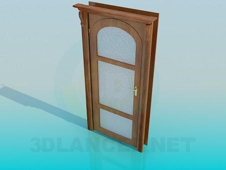 3d моделирование Дверь межкомнатная со стеклом модель скачать бесплатно