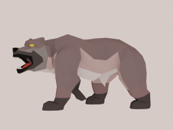 Orso low poly