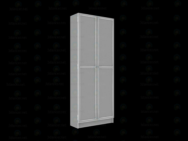 3d модель Ікеа Стелаж BILLY з дверцятами OKSBERG – превью