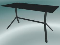 Tavolo MIURA (9586-01 (70x140cm), H 73cm, nero, nero)