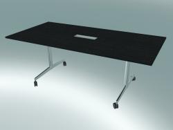 Grande table rectangulaire de style pied en T (2000x1000, 740mm)