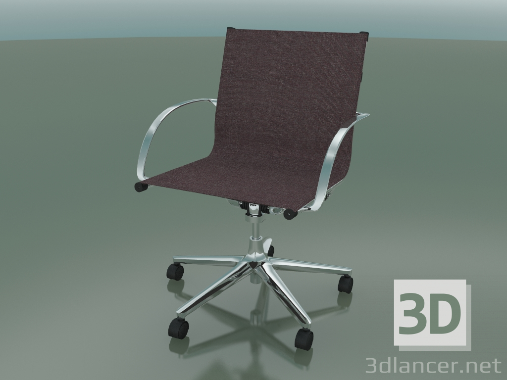 3d Model Swivel Chair With Armrests On 5 Wheels With Fabric Upholstery 1211 3dlancer Net
