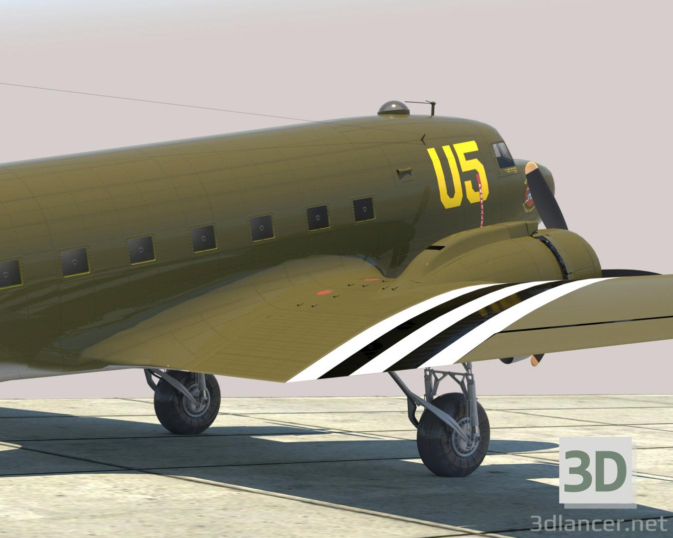 "3d C-47 ""Skytrain"" model buy - render"