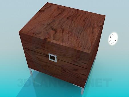 3d модель Невелика дерев'яна тумба – превью