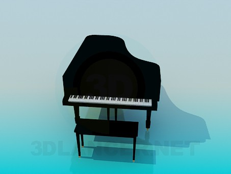 modelo 3D Piano de cola - escuchar
