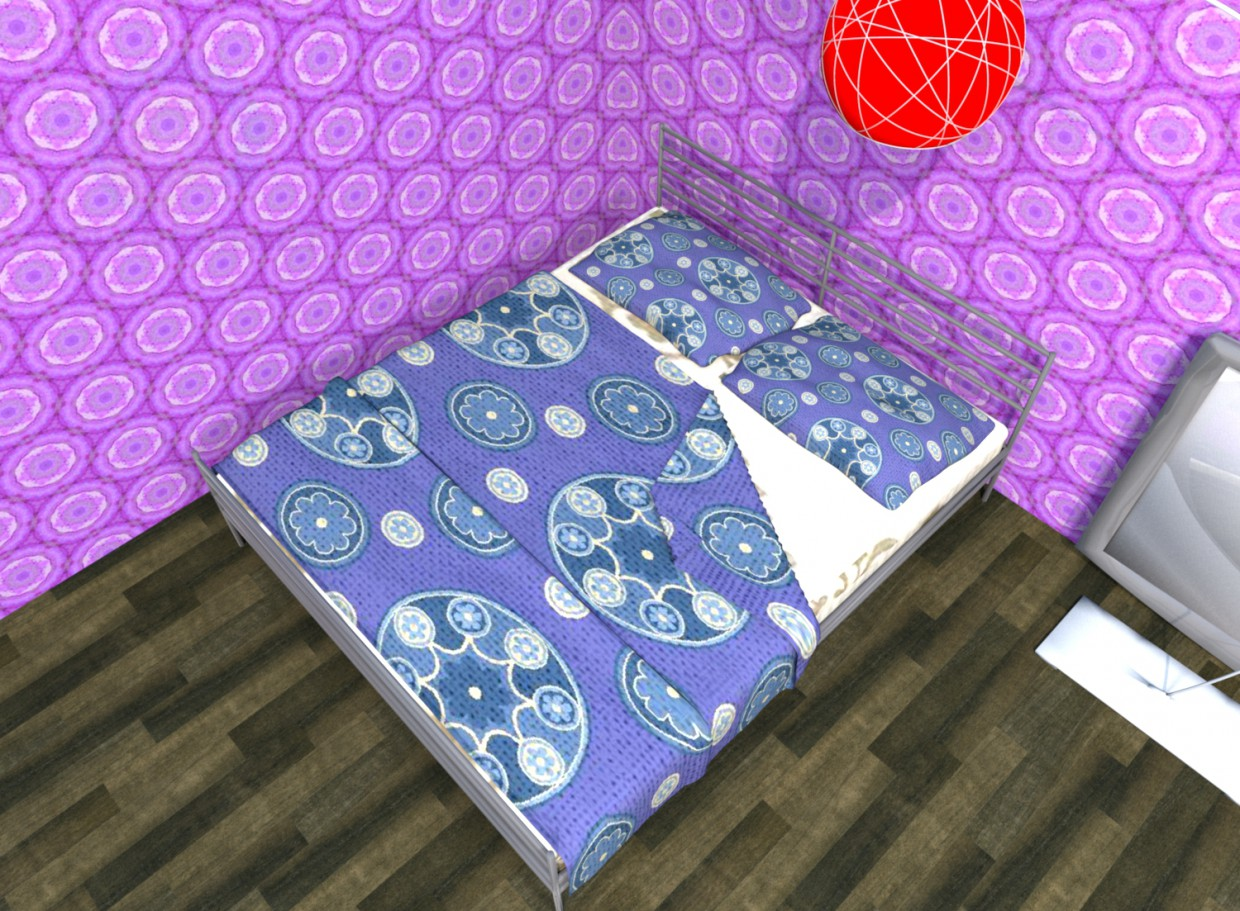 3d model Bed sleep - preview