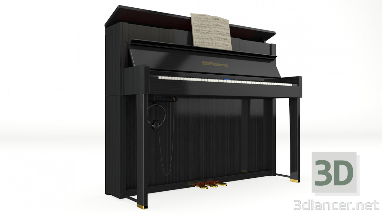 3d modeling Roland Piano LX-10F model free download