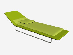 Deck chair with backrest adjustable in three positions Surf