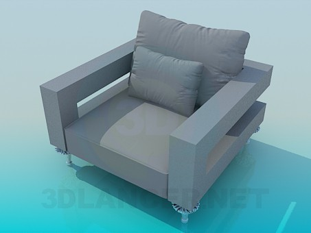 3d model Wide seat - preview