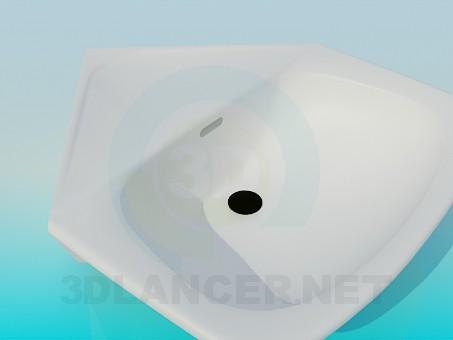 3d model Corner washbasin - preview