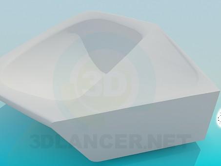 3d модель Угловой умывальник – превью