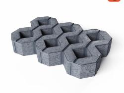 "Treliça de concreto gramado ""MEBA"""
