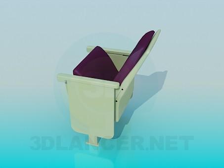 3d моделирование Складное кресло модель скачать бесплатно