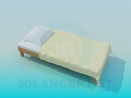 3d modeling Bed without head of the bed model free download