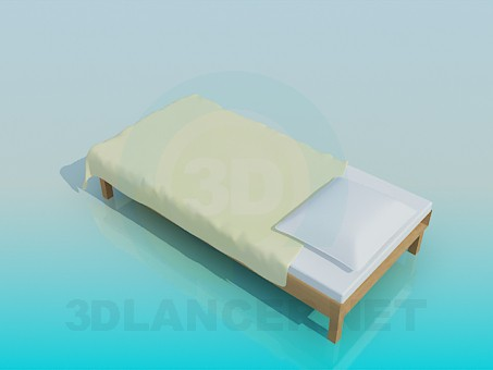3d model Bed without head of the bed - preview