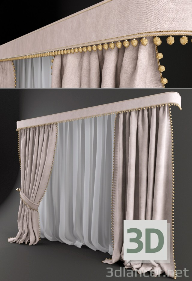 3d modeling Window Shades model free download