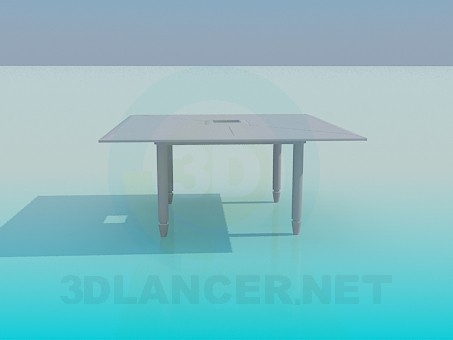 3d modeling Square table with hole model free download