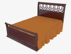 Double bed, dark finish