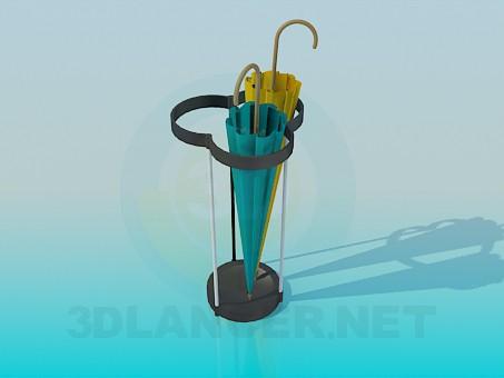 3d модель Подставка для зонтов – превью