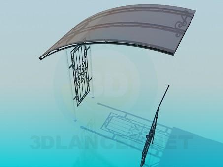 3d модель Входная дверь и перила – превью