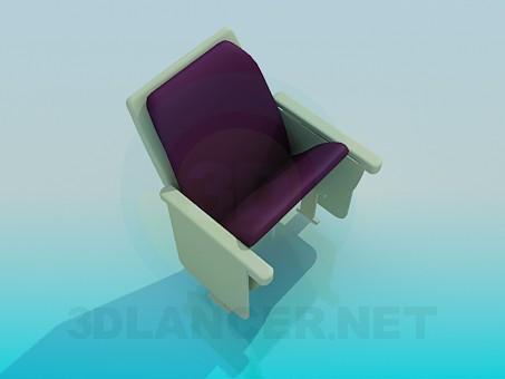 3d модель Складное кресло – превью