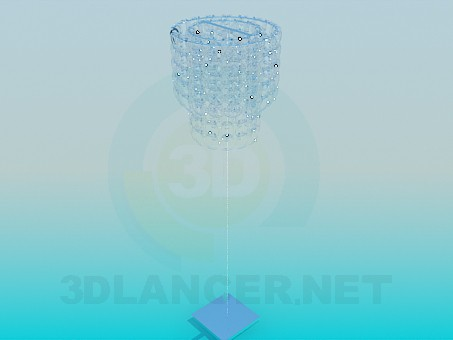 3d model Glass floor lamp - preview