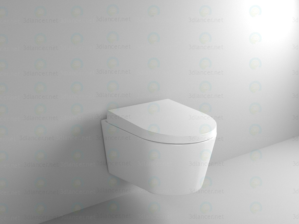 3d modeling Suspended toilet-bidet model free download