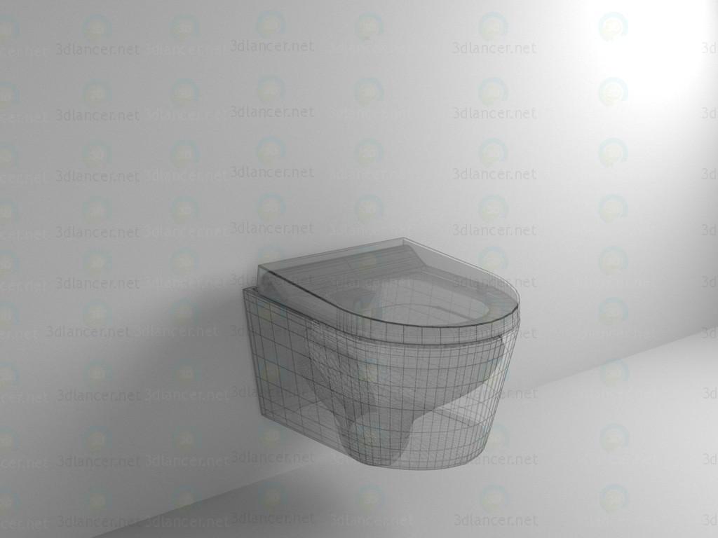 3d модель Подвесной унитаз-биде – превью