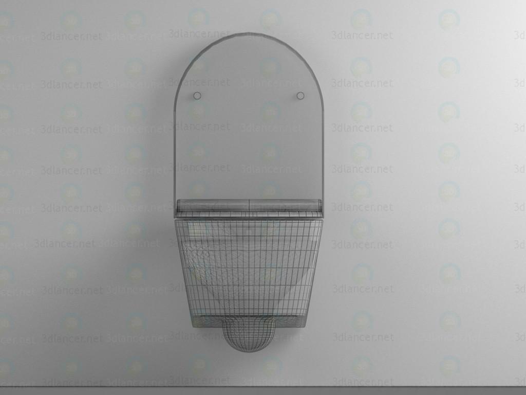 modelo 3D Suspendido higiénico-bidé - escuchar