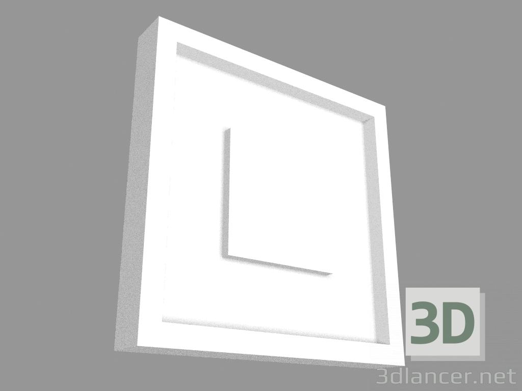 3d модель Кутовий молдинг P5020B (9 x 9 x 1.3 cm) – превью