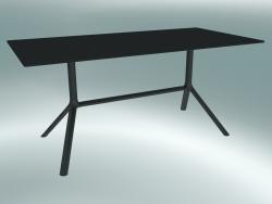 Tavolo MIURA (9587-01 (80x160cm), H 73cm, nero, nero)