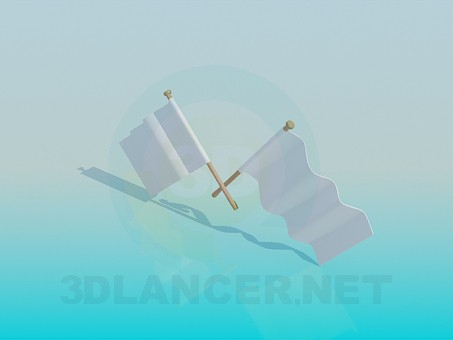 3d modeling Flags model free download