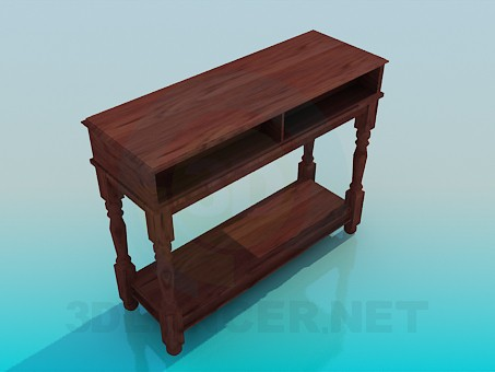 3d model Table-pedestal - preview