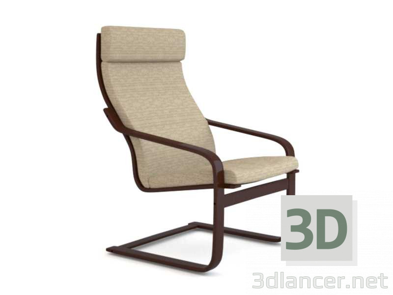 3d model POENG Chair - preview