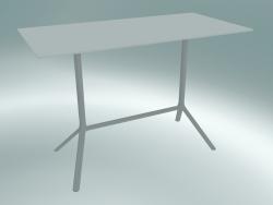 Tavolo MIURA (9587-71 (80x160cm), H 103cm, bianco, bianco)