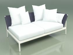 Sofa module left 005 (Metal Milk, Batyline Blue)
