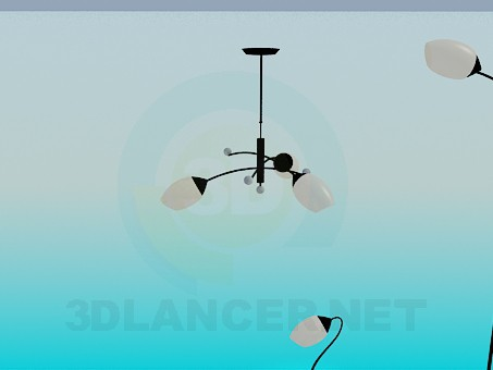 3d model Chandelier, floor and table lamps - preview