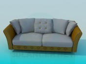 Sofa with two sections