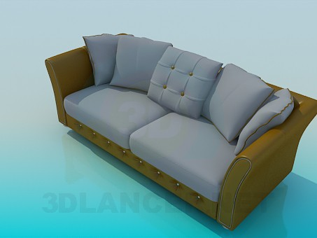 3d model Sofa with two sections - preview