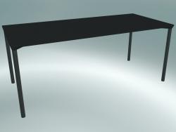 Tavolo MONZA (9208-01 (80x180 cm), H 73 cm, HPL nero, alluminio, verniciato a polvere nero)
