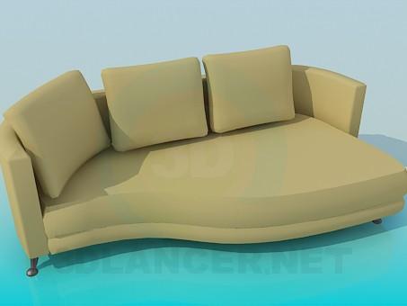 descarga gratuita de 3D modelado modelo Sofá del sofá