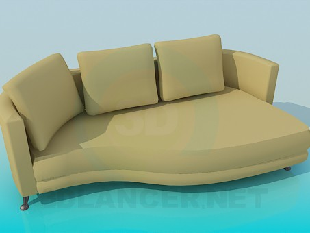 modelo 3D Sofá del sofá - escuchar