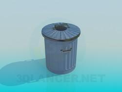 Bote de basura con tapa