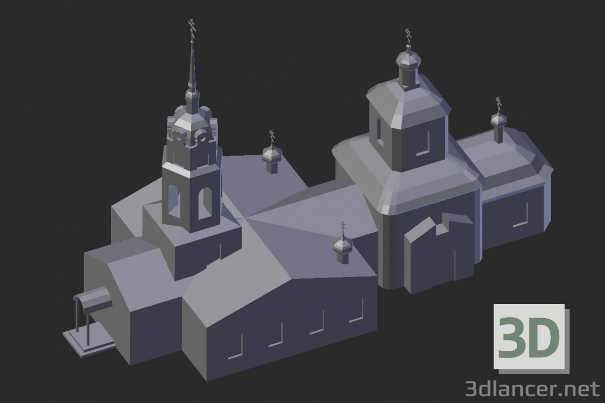 3d model Altufevo. Holy Cross Church - preview
