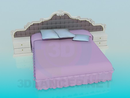 3d model Luxury double bed - preview