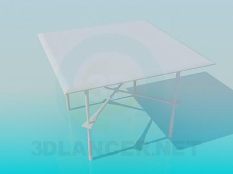 3d модель Квадратный стол – превью